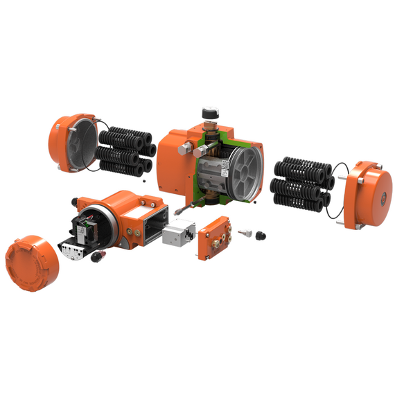 Bettis Q-Series Valve Operating System With Pneumatic Rack and Pinion Actuator